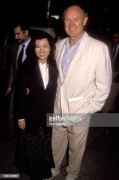 Gene Hackman and Betsy Arakawa during PCC Celebrity Art Show on September 11 1991 at Stringfellow's Restaurant in Beverly Hills California United...