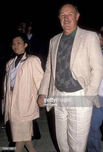 Gene Hackman and Betsy Arakawa during Sugar Ray Leonard Vs. Donny LaLonde Boxing Match - November 7, 1988 at Caesar's Palace in Las Vegas, Nevada,...