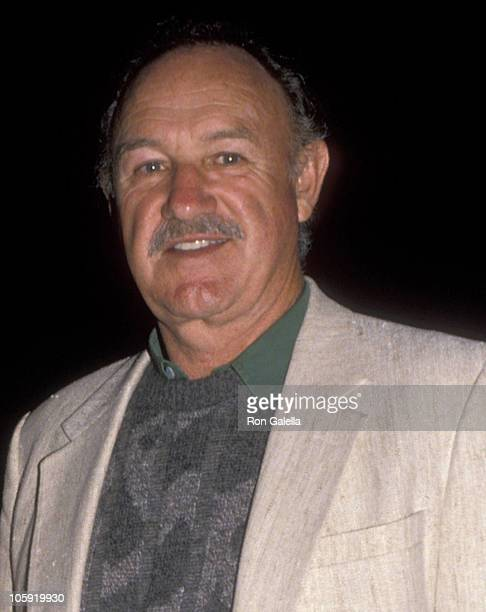 Gene Hackman and Betsy Arakawa during Sugar Ray Leonard Vs Donny LaLonde Boxing Match November 7 1988 at Caesar's Palace in Las Vegas Nevada United...