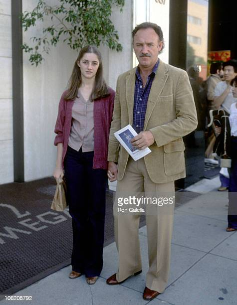 Gene Hackman and Daughter Elizabeth Hackman during Gene Hackman Sighting on Rodeo Drive March 24 1979 at Rodeo Drive in Beverly Hills California...