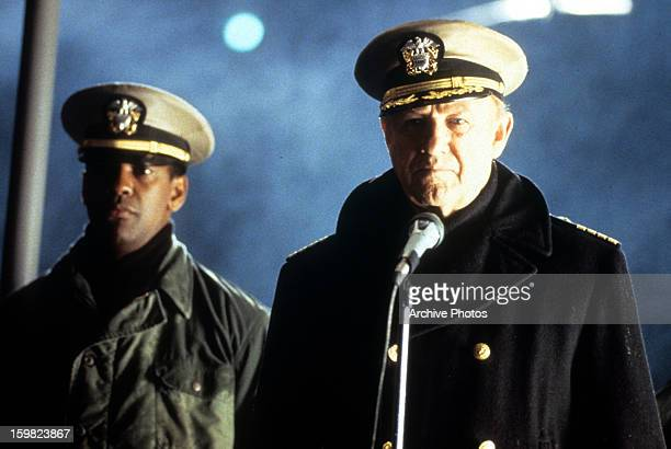 Gene Hackman and Denzel Washington in a scene from the film 'Crimson Tide' 1995