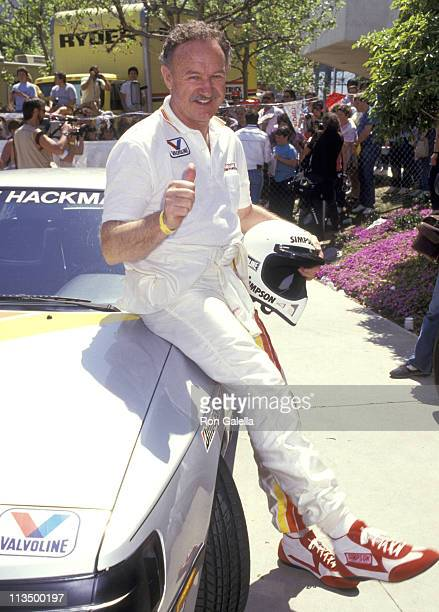 Gene Hackman during 1987 Toyota ProCelebrity Grand Prix Classic at Long Beach Raceway in Long Beach California United States