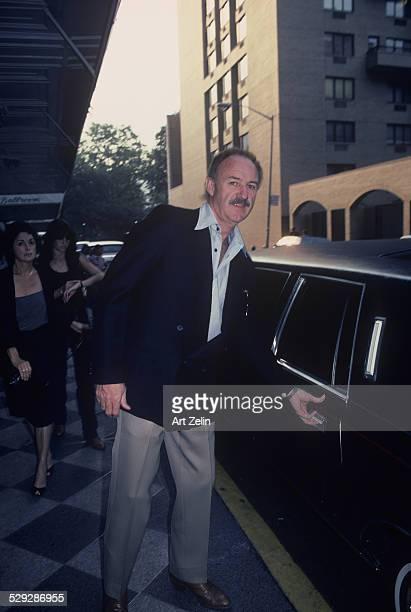 Gene Hackman getting into a limousine circa 1970 New York