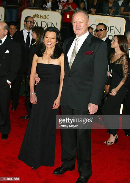 Gene Hackman & wife Betsy Arakawa during The 60th Annual Golden Globe Awards - Arrivals at The Beverly Hilton Hotel in Beverly Hills, California,...