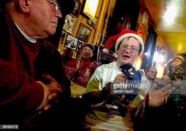 Gene Ingold, of West Allis, Wisconsin. And Joe Schneider, and Harold Schneider, of New Berlin Wisconsin. Attend Art's Concertina bar annual Christmas...