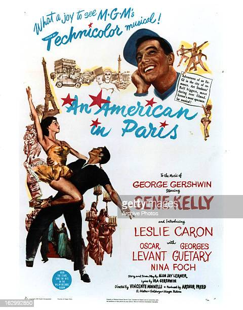 Gene Kelly in movie art for the film 'An American In Paris' 1951