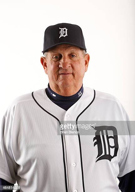 Gene Lamont of the Detroit Tigers poses for a photo during the Tigers' photo day on February 28 2015 at Joker Marchant Stadium in Lakeland Florida
