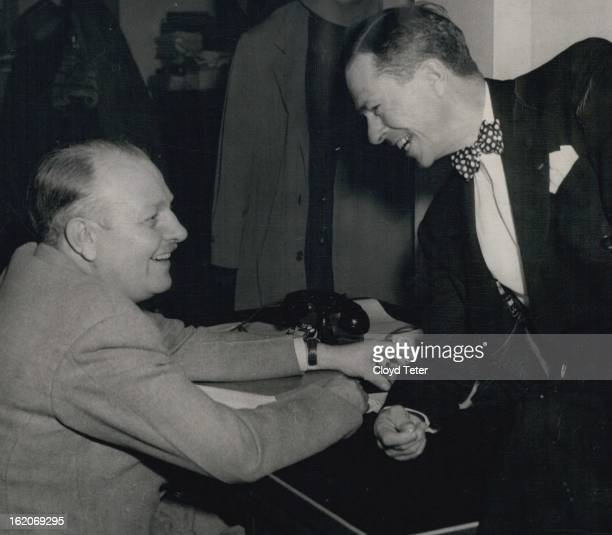 MAR 7 1950 MAR 8 1950 Gene Lowall Denver Post crime editor and Harry McCormick vetaran crime reporter for the Dallas Morning News met in Denver...