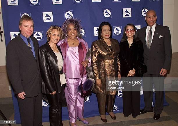 Gene Maillard Executive Director of Grammy Foundation Shari Belafonte Della Reese Coretta Scott King Gail Buckley and General George Price at the...