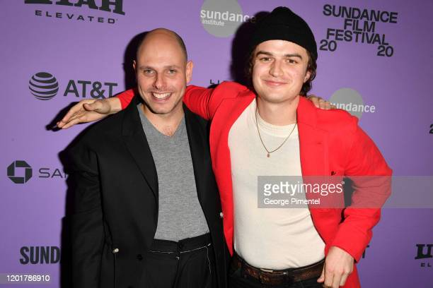 Gene McHugh and Joe Keery attend the 2020 Sundance Film Festival Spree Premiere at The Marc Theatre on January 24 2020 in Park City Utah
