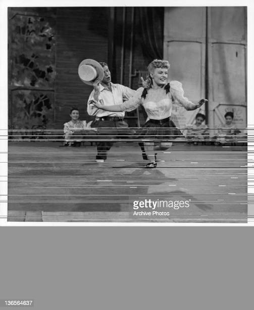 Gene Nelson and June Haver performing in stage in a scene from the film 'Daughter Of Rosie O'Grady' 1950