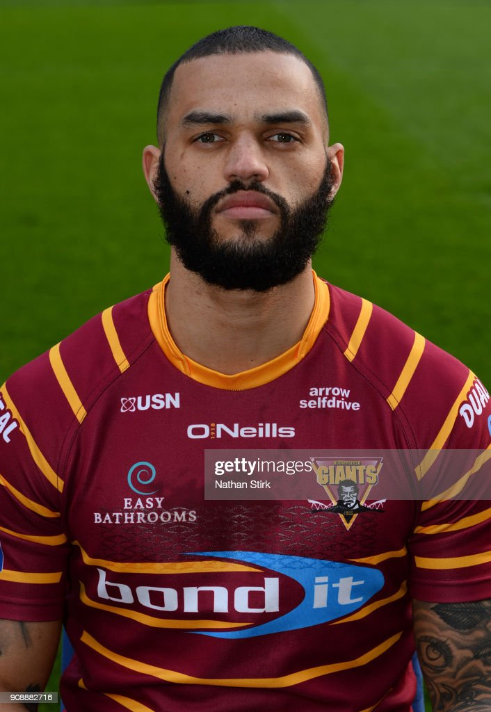 Gene Ormsby of Huddersfield Giants poses for a portrait during the Huddersfield Giants Media Day at John Smith's Stadium on January 22, 2018 in Huddersfield, England.