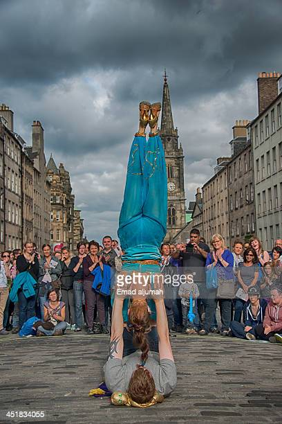 CONTENT] Gene performing acrobatic show in the street at Edinburgh Festival Fringe 2013