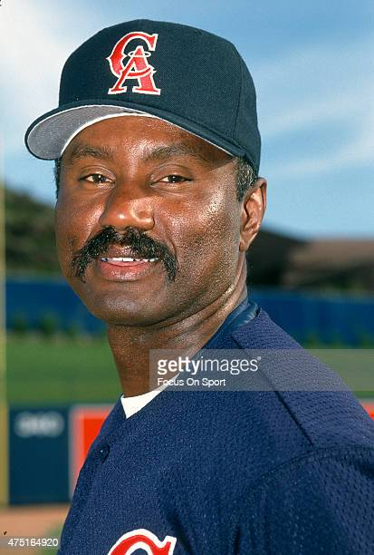 Gene Richards coach of the California Angels poses for the camera during Major League Baseball spring training circa 1992