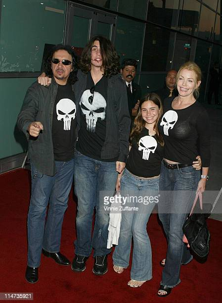 """Gene Simmons and Family attending the premiere of """"The Punisher"""" at the Archlight Theatre in Hollywood, California 04/13/04"""