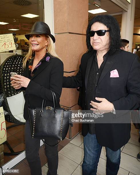 Gene Simmons and his wife Shannon Tweed sighted at 'Kindertag' at the Park Center Treptow Shopping Center on May 28 2015 in Berlin Germany
