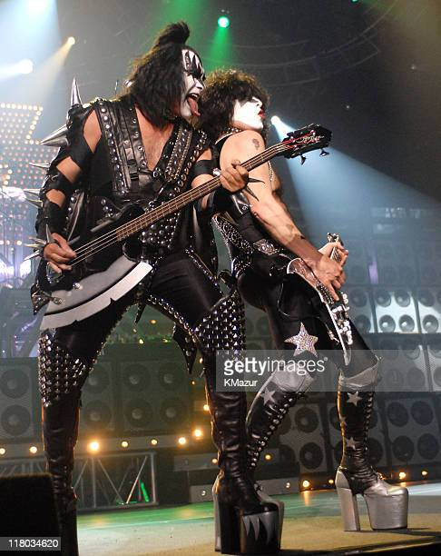 Gene Simmons and Paul Stanley of KISS during 2006 VH1 Rock Honors Show at Mandalay Bay Hotel and Casino in Las Vegas Nevada United States