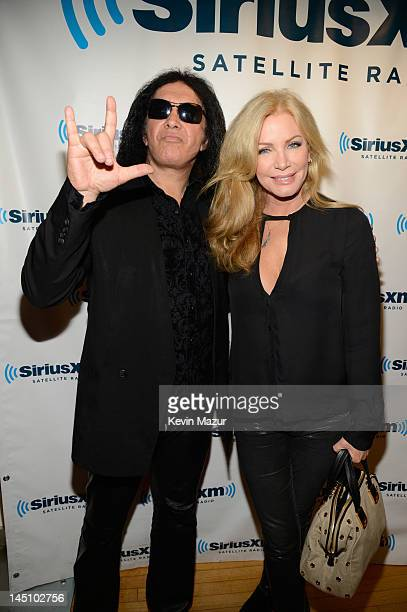 Gene Simmons and Shannon Tweed at the SiriusXM Studio on May 23 2012 in New York City