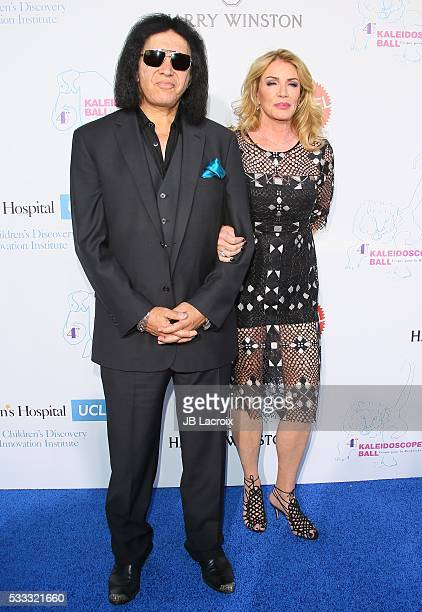 Gene Simmons and Shannon Tweed attend the Kaleidoscope Ball held at 3LABS on May 21 2016 in Culver City California
