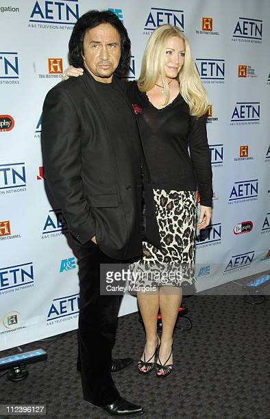 Gene Simmons and Shannon Tweed during AE Unveils Fall 2006 Season Lineup at the AE Network Upfronts at Time Warner Center Jazz at Lincoln Center in...