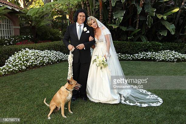 Gene Simmons and Shannon Tweed wed at the Beverly Hills Hotel on October 1 2011 in Los Angeles California