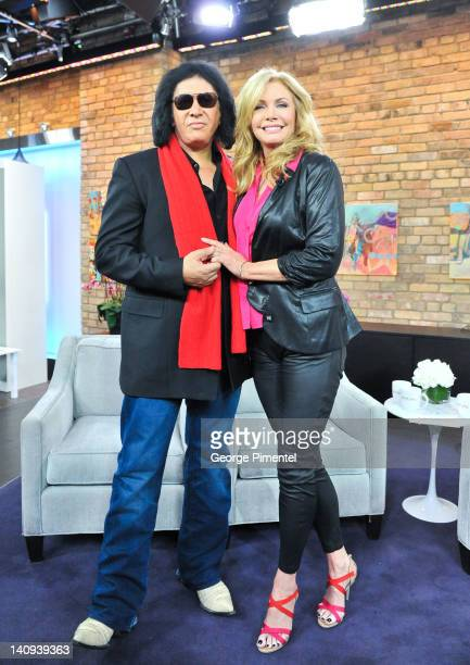 Gene Simmons and wife Shannon Tweed visit The Marilyn Denis Show on March 8 2012 in Toronto Canada
