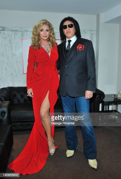 Gene Simmons and wife Shannon TweedSimmons attend The Carlu on March 8 2012 in Toronto Canada