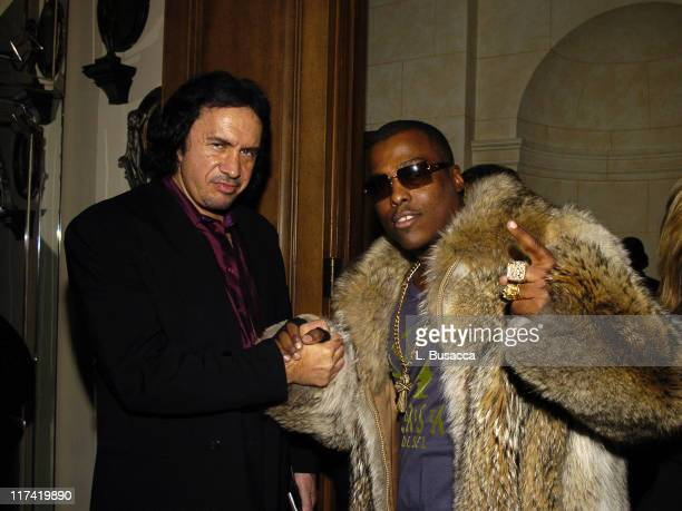 Gene Simmons and WonG during Launch Party In Bed with Robert Evans on Sirius Satellite Radio at Robert Evans apartment in Woodland Beverly Hills...