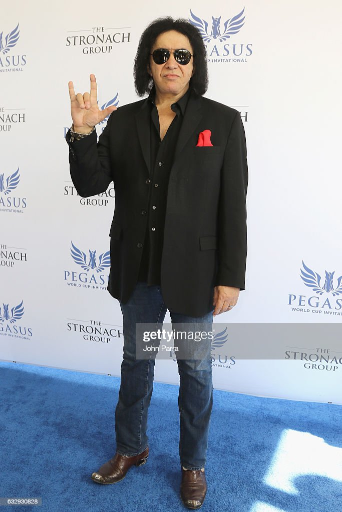 Gene Simmons attends the Pegasus World Cup at Gulfstream Park on January 28, 2017 in Hallandale, Florida.