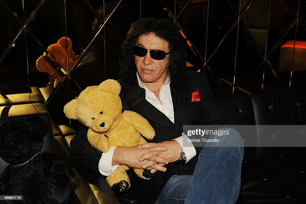 Gene Simmons attends the reception for the world premiere of Cirque du Soleil's 'Viva ELVIS' at Aria in CityCenter on February 19, 2010 in Las Vegas, Nevada.
