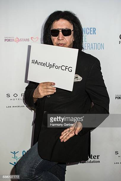 Gene Simmons attends the Tower Cancer Research Foundation's 3rd Annual Ante Up For A Cancer Free Generation Poker Tournament And Casino Night at...