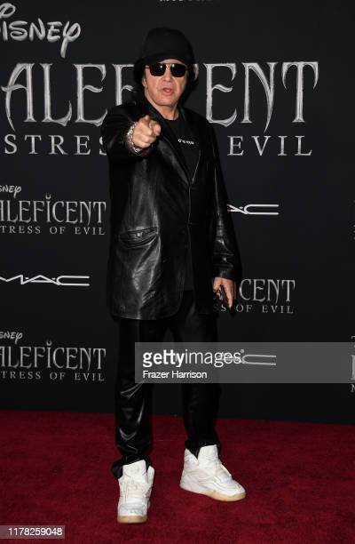 """Gene Simmons, attends the World Premiere Of Disney's """"Maleficent: Mistress Of Evil"""" - Red Carpet at El Capitan Theatre on September 30, 2019 in Los..."""