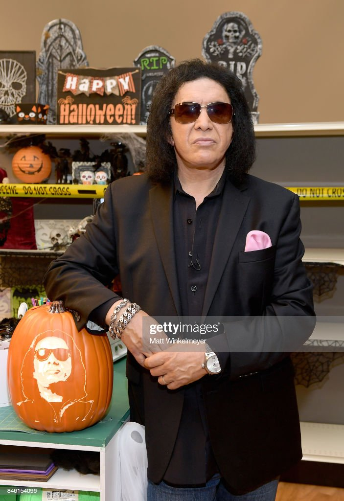 Gene Simmons behind the scenes of Making with Michaels on August 23, 2017 in Los Angeles, California.