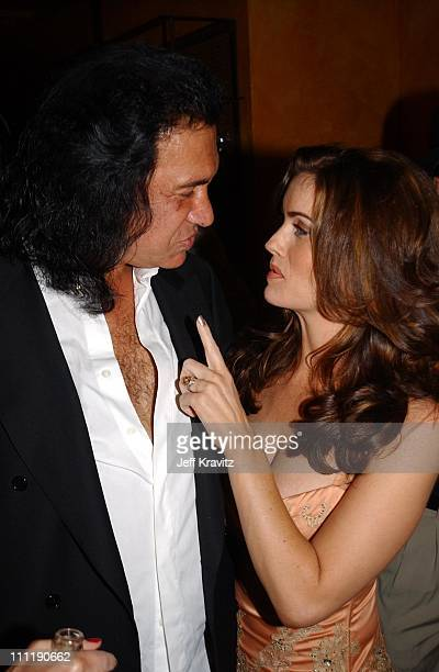 Gene Simmons Carrie Stevens during Tongue Magazine Party at Barfly at Barfly in Los Angeles California United States