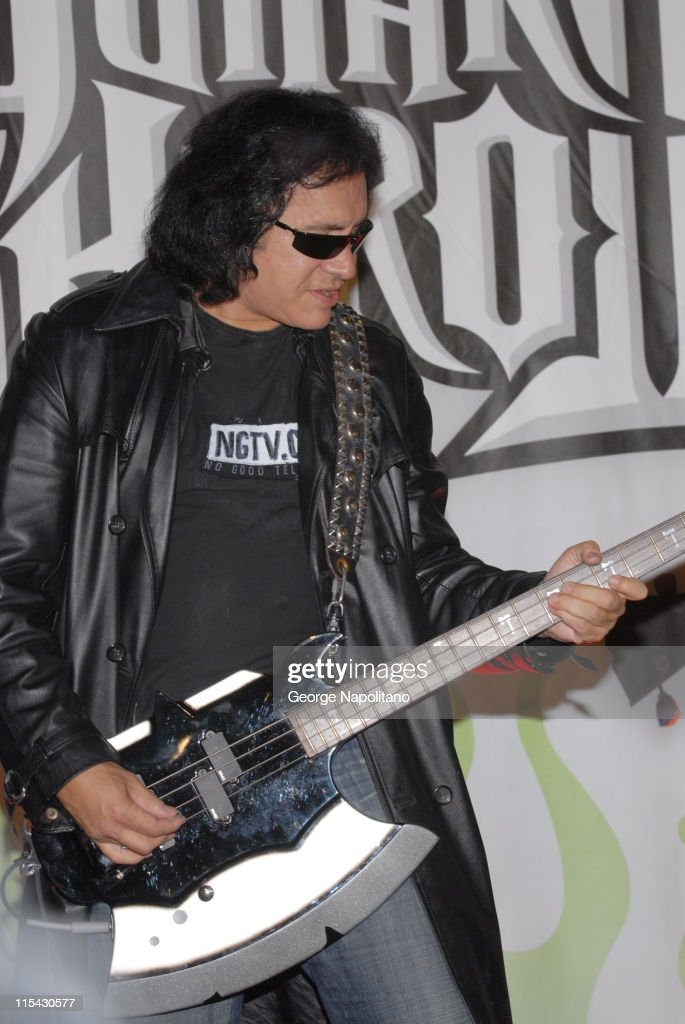 Gene Simmons during Guitar Hero II for Xbox 360 Launch with