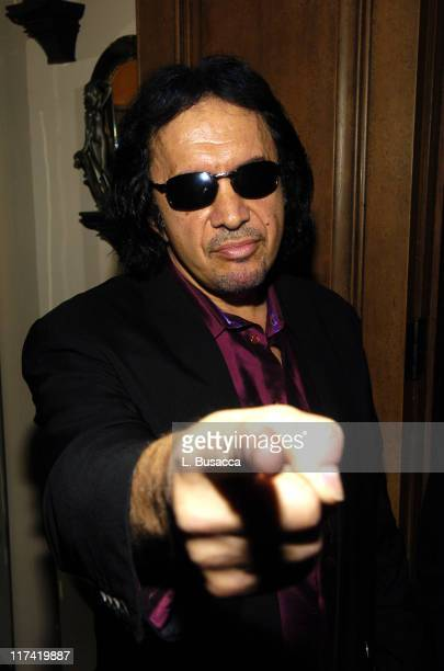 Gene Simmons during Launch Party In Bed with Robert Evans on Sirius Satellite Radio at Robert Evans apartment in Woodland Beverly Hills California