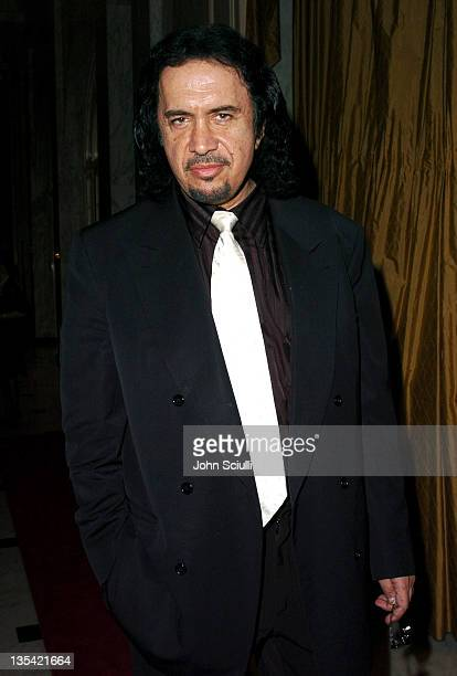 Gene Simmons during The Larry King Cardiac Foundation Gala at The Regent Beverly Wilshire Hotel in Beverly Hills, California, United States.