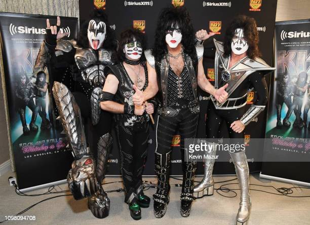 Gene Simmons, Eric Singer, Paul Stanley and Tommy Thayer of KISS during KISS Performs Private Concert For SiriusXM At Whisky A Go Go In Los Angeles...