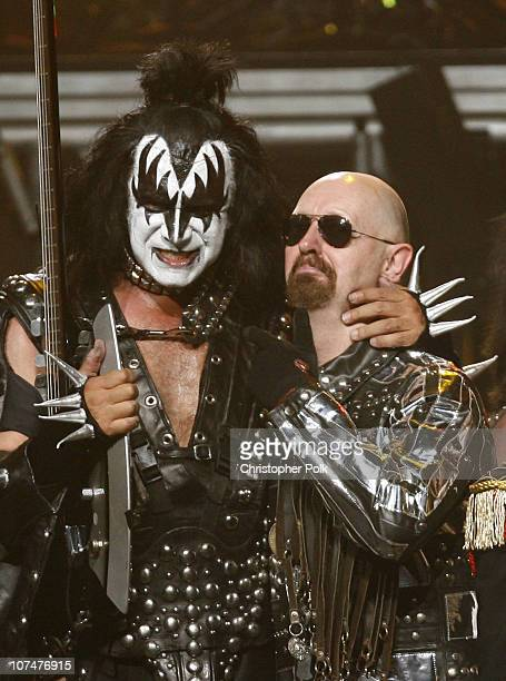 Gene Simmons of KISS and Rob Halford of Judas Priest