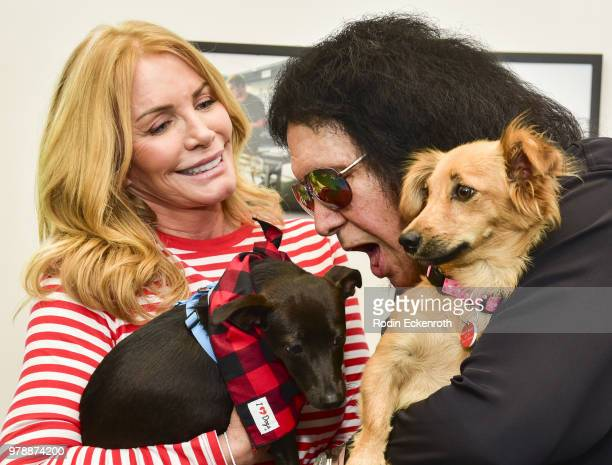 Gene Simmons of KISS and wife Shannon Tweed make a surprise appearance at Wags Walks Dog Rescue To deliver toys and treats provided by iHeartDogscom...