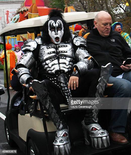 Gene Simmons of KISS attends 88th Annual Macy's Thanksgiving Day Parade on November 27 2014 in New York City