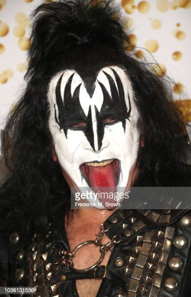 Gene Simmons of Kiss attends America's Got Talent Season 13 Finale Live Show red carpet at the Dolby Theatre on September 19 2018 in Hollywood...