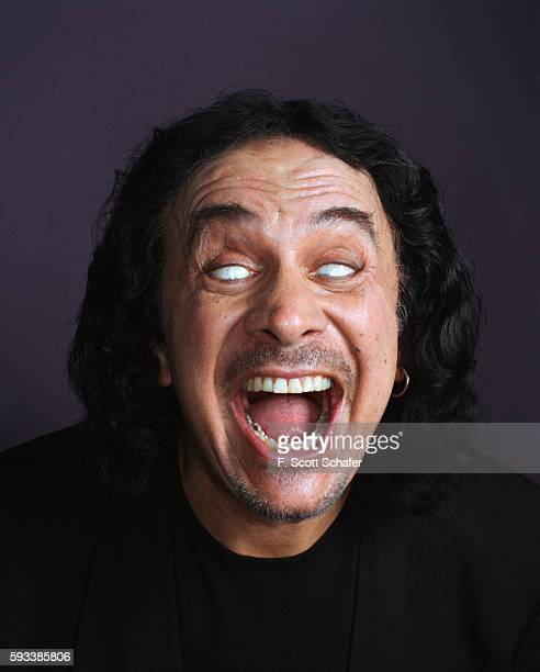Gene Simmons of Kiss is photographed for Blender Magazine in 2004 PUBLISHED IMAGE