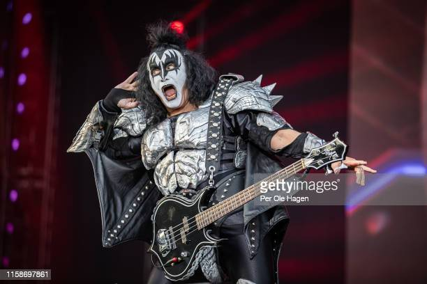 Gene Simmons of Kiss on stage at the Tons of Rock festival on June 27 2019 in Oslo Norway