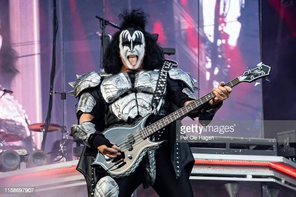 Gene Simmons of Kiss on stage at the Tons of Rock festival on June 27, 2019 in Oslo, Norway.