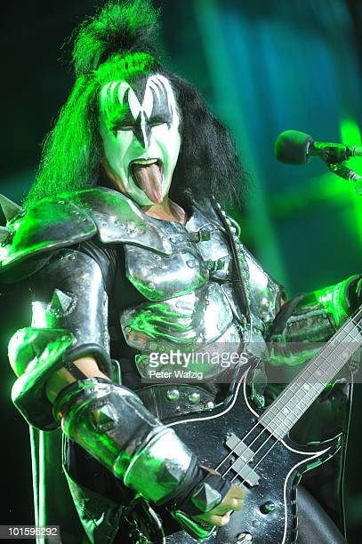 Gene Simmons of Kiss performs during the first day of Rock am Ring on June 03 2010 in Nuerburg Germany