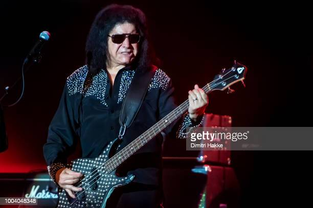 Gene Simmons of Kiss performs on stage during a soloshow as part of the 40th Anniversary Solo Albums Tour at 013 on July 19 2018 in Tilburg...
