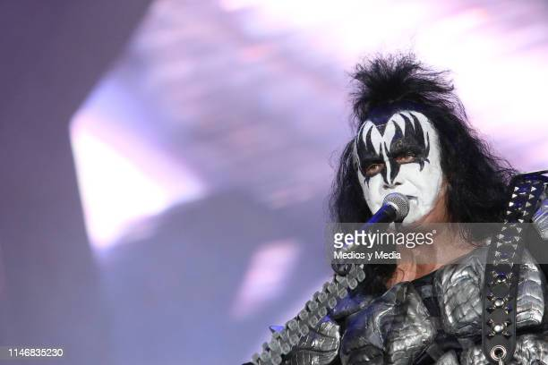 Gene Simmons of KISS performs on stage during the Domination Festival 2019 at Foro Sol on May 3 2019 in Mexico City Mexico