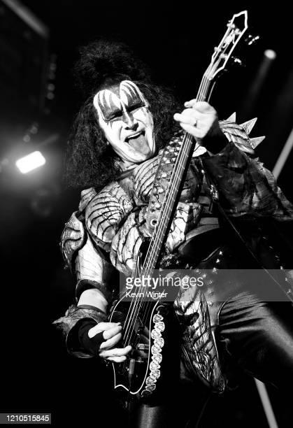 Gene Simmons of Kiss performs onstage at Staples Center on March 04, 2020 in Los Angeles, California.