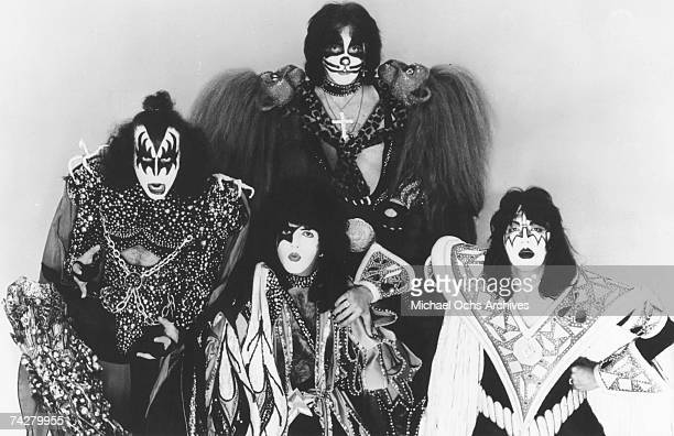 Gene Simmons Paul Stanley Peter Criss and Ace Frehley of the rock band 'Kiss' in circa 1979
